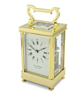 David Peterson Captains 8 day Mechanical Carriage Clock. DP/CC/SK with Bell Strike Movement